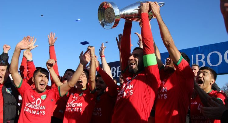 Uzbekistan Cup Lokomotiv winner FOOTBALL