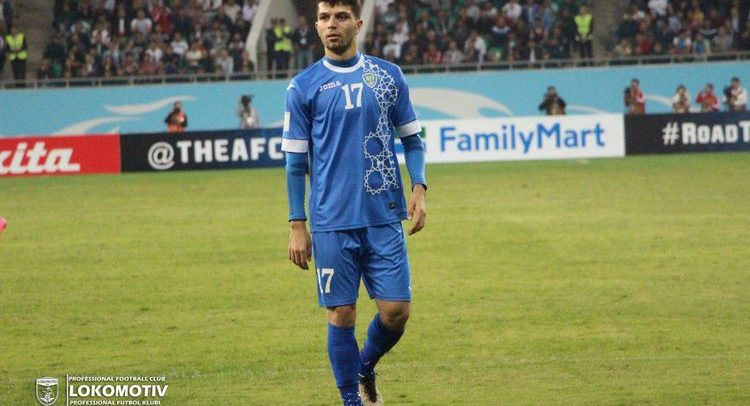 Jaloliddin Masharipov - Uzbekistan team player